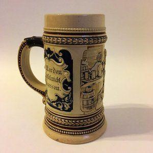 Beer Stein Ceramic Cup German Collectible Mug